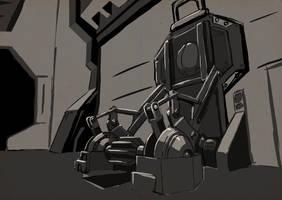 SKETCH - Mechanical Door Concept by VR-Robotica