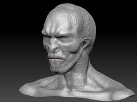 ZBRUSH WIP - Wheel Of Time Myrddraal Bust 02 by VR-Robotica