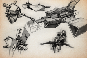 SKETCHBOOK - Random Spaceships by VR-Robotica