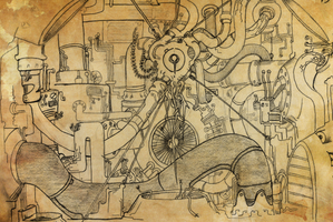 OLD SKETCHBOOK - Machine Heart...thing. by VR-Robotica