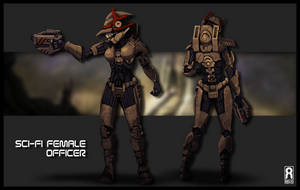 CONCEPT - Sci-Fi Female Officer by VR-Robotica