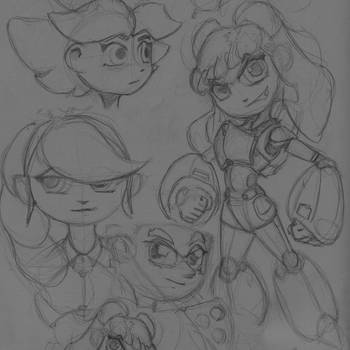 SKETCHBOOK 2018-06 - R+R Character Explorations by VR-Robotica