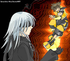 Sora and Riku - In Flames by Xpand-Your-Mind