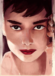 Audrey Hepburn by Mcgreevy