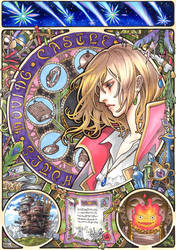 Howl's Moving Castle  Mucha style by T-A-K-U-M-I-28