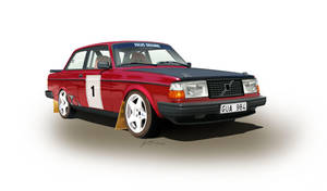 Volvo 242 Rallycar by LindStyling
