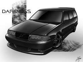 Volvo V90 All Black by LindStyling