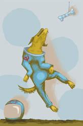 Space Dog by fienemannia