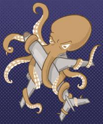 Octopus vs. Jet by fienemannia