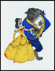 Belle and Beast by klydedevine