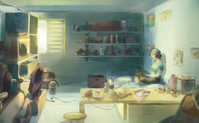 Ludko's room. by zacaria-world