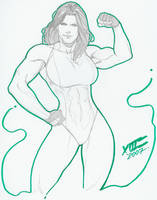 She-Hulk pinup again, by LuisXIII by zefly88