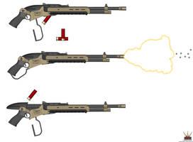 HAC Lever-Action Shotgun Mk-2 'Bonecrusher' by Lugnut1995