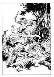 mistico vs guerreros mayas by obazaldua