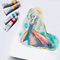 Gardevoir watercolor by helofoxy