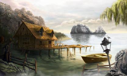 Fishing lodge by Goshadude89