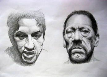 Sylvester Stallone and Danny Trejo by Goshadude89