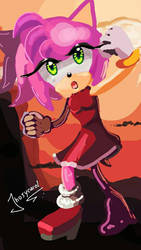 amy rose victory by Zaidylin