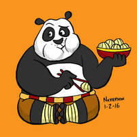 Daily Drawing 1-2-16 Kung Fu Panda by joshnickerson