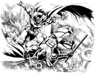 Dark Knight n Moon Knight Ink by BDStevens