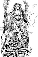 Witchblade inks - Keu Cha by BDStevens