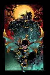 Batman/Batgirl Blood Moon by BDStevens