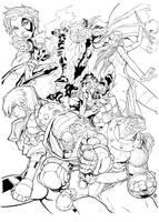 X-Men Age of Apocalypse inks by BDStevens