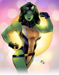 She Hulk Colors - Coppertone by BDStevens