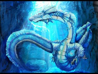 Dragon that lives in the ocean by gohou