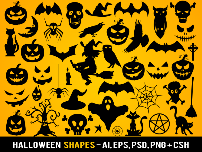 Free Halloween Shapes by pixaroma