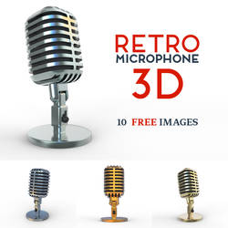 Free Retro Microphone by pixaroma