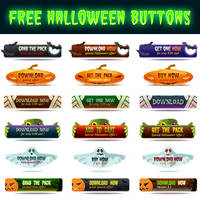 Free Halloween Buttons by pixaroma