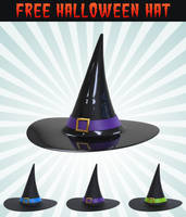 Free 3D Halloween Hat Icon by pixaroma