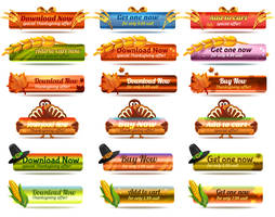 Free Thanksgiving Buttons by pixaroma