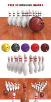 Free Bowling 3D Images by pixaroma