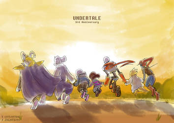 .: 3RD ANNIVERSARY : UNDERTALE :. by ZKCats
