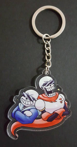 COOL SKELEBROS Keychain by ZKCats