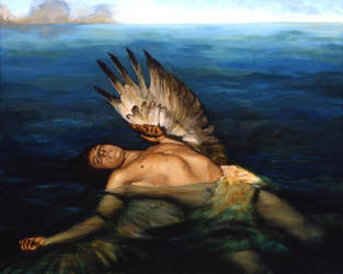 Icarus Drowning by mopeydecker