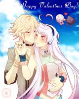 MAIKA and YOHIOloid: Happy Valentine's Day! by Noririn-Hayashi