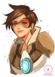 Tracer - Overwatch by Noririn-Hayashi