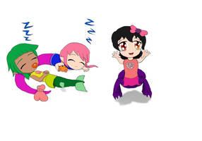 Baby Monster Girls by JofDragon