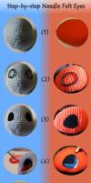 Pokemon Needle Felt Eyes Step-by-Step tutorial by ItsaBumbleDee