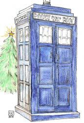 TARDIS Christmas Card by The-Tinidril