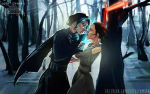 Star Wars: Kylo Ren and Rey by LittleChmura