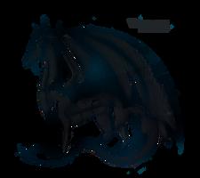 Detailed Sketch - Dragon - Crosshatch by VVemeya