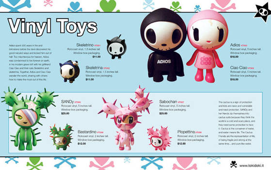 Tokidoki Toys Catalog Spread by octofinity