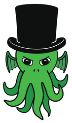 Little Cthulhu in a Top Hat by octofinity