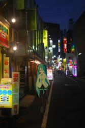 Miku in Tokyo 02 by MahoroAndou