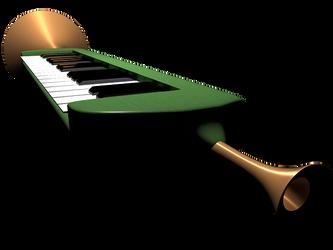 Piano Horn by MahoroAndou