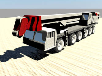 Krupp GMT-AT Crane Truck by MahoroAndou